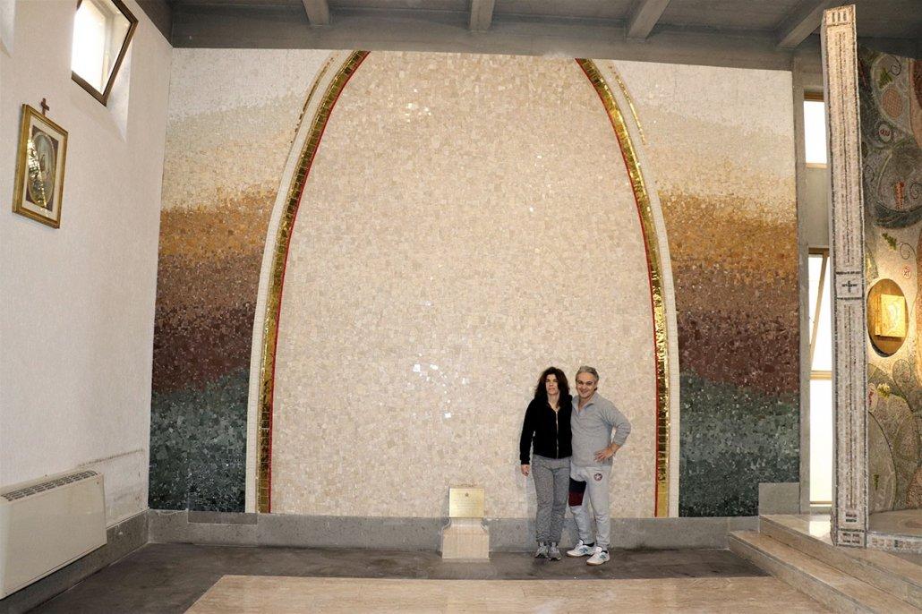 Lavori Mosaico Crocifisso 2